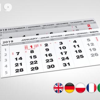 Kalendaria czterodzielne 2019