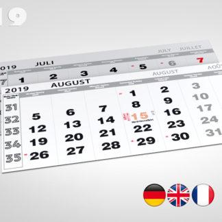 Kalendaria sześciodzielne 2019