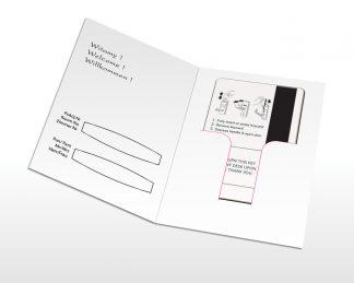 Etui na klucz hotelowy - karnet - gotowe druki
