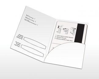 Etui na klucz hotelowy - karnet z kieszonką - gotowe druki