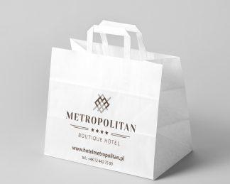 Hotelowe torby papierowe - druk z projektu